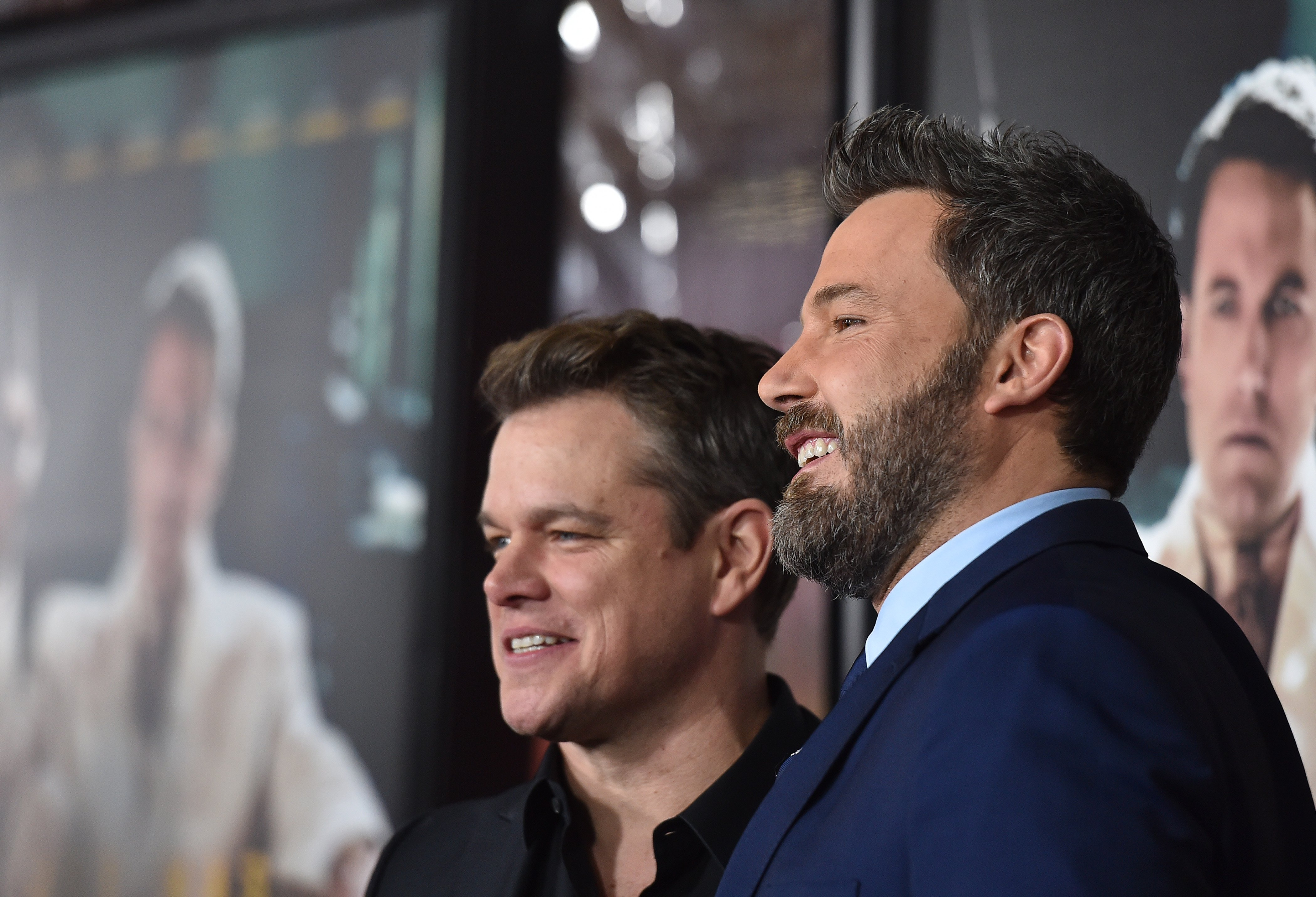 Matt Damon and Ben Affleck at the premiere of 'Live By Night' at TCL Chinese Theatre in Hollywood, California | Photo: Axelle/Bauer-Griffin/FilmMagic via Getty Images
