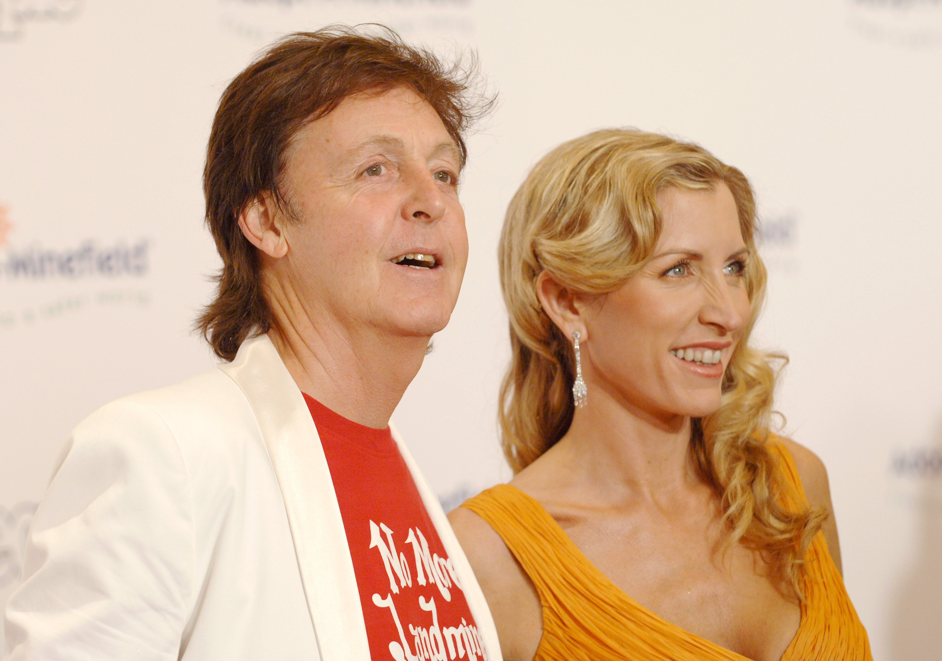 "Paul McCartney attending the the 5th ""Adopt A Minefiled"" gala with then wife, Heather Mills in Los Angeles, in November 2015. 