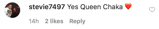 A fan commented on a video of Chaka Khan wearing a gold and diamond crown | Source: Instagram.com/chakaikhan