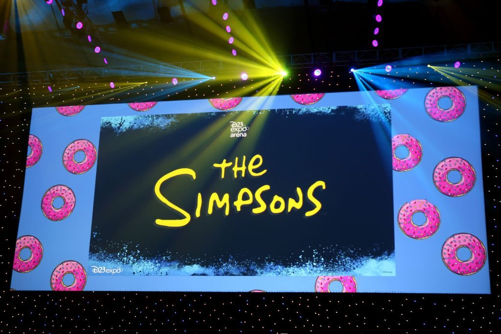 A view of the screen at The Simpsons! panel during the 2019 D23 Expo at Anaheim Convention Center  | Getty Images