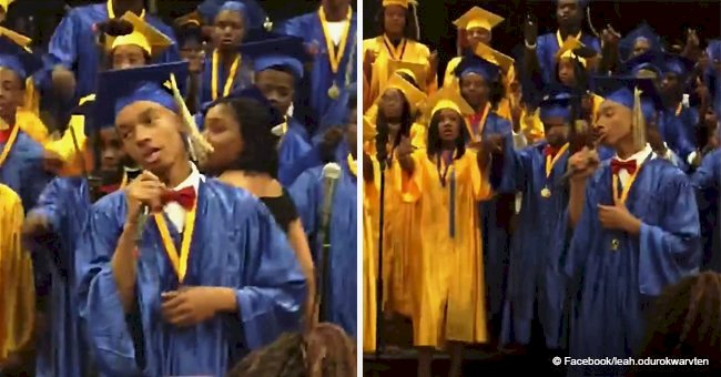 Graduate brings smiles & tears to the eyes singing 'Before I Let You Go' in viral video