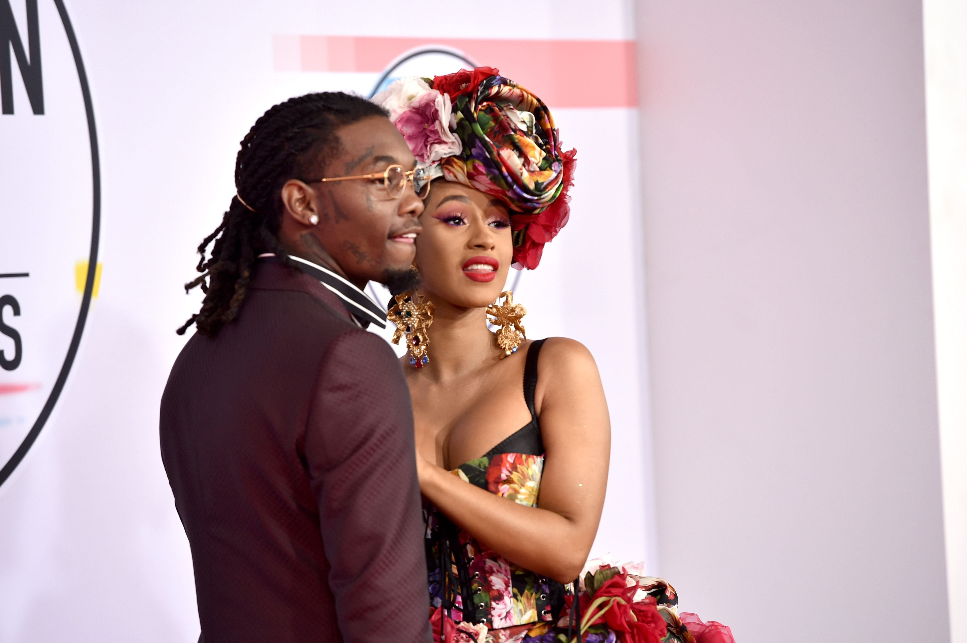 Offset and Cardi B at the American Music Awards in Los Angeles on October 9, 2018. | Photo: Getty Images