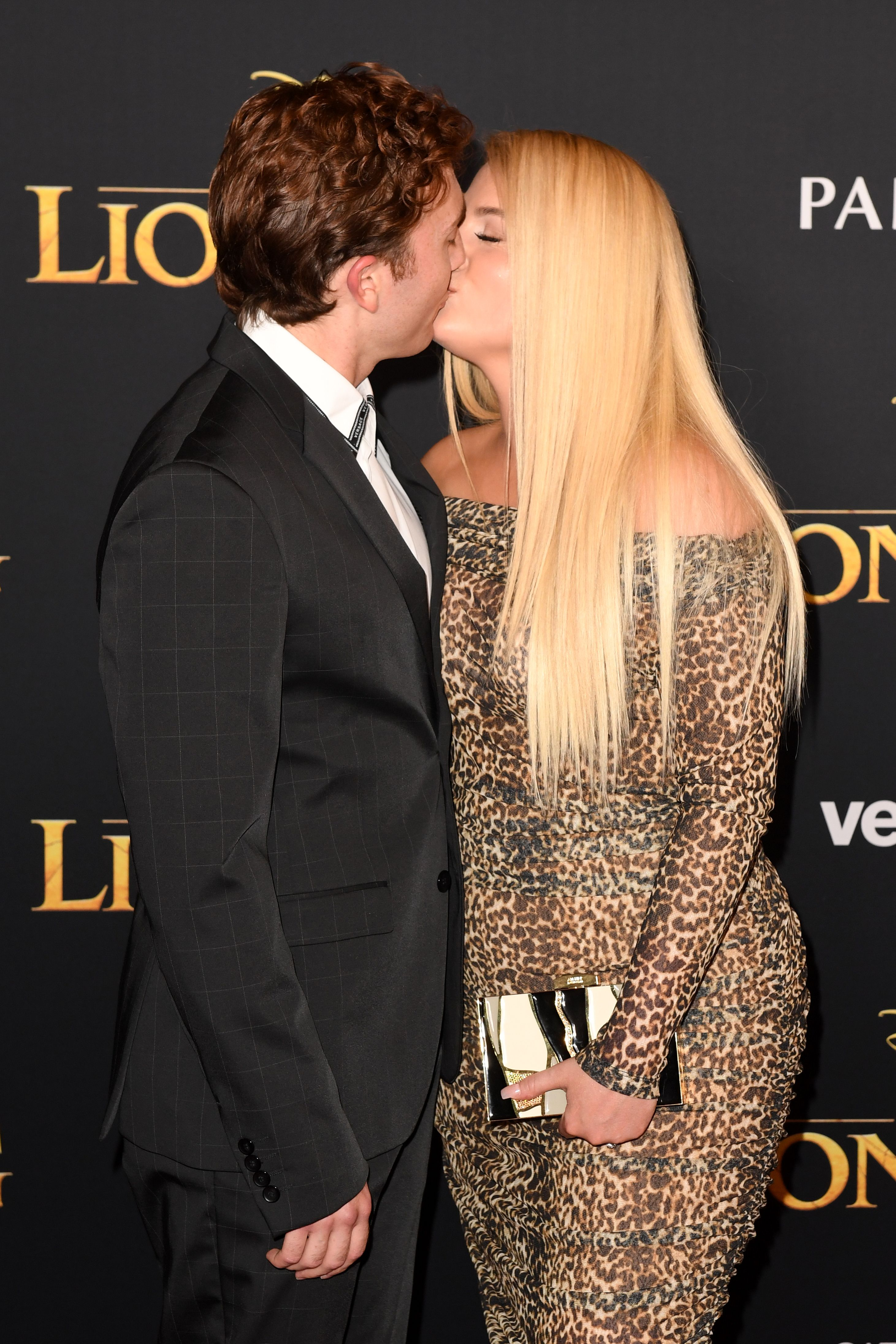 """Meghan Trainor and Daryl Sabara at the world premiere of Disney's """"The Lion King"""" in Hollywood, 2019   Photo: Getty Images"""