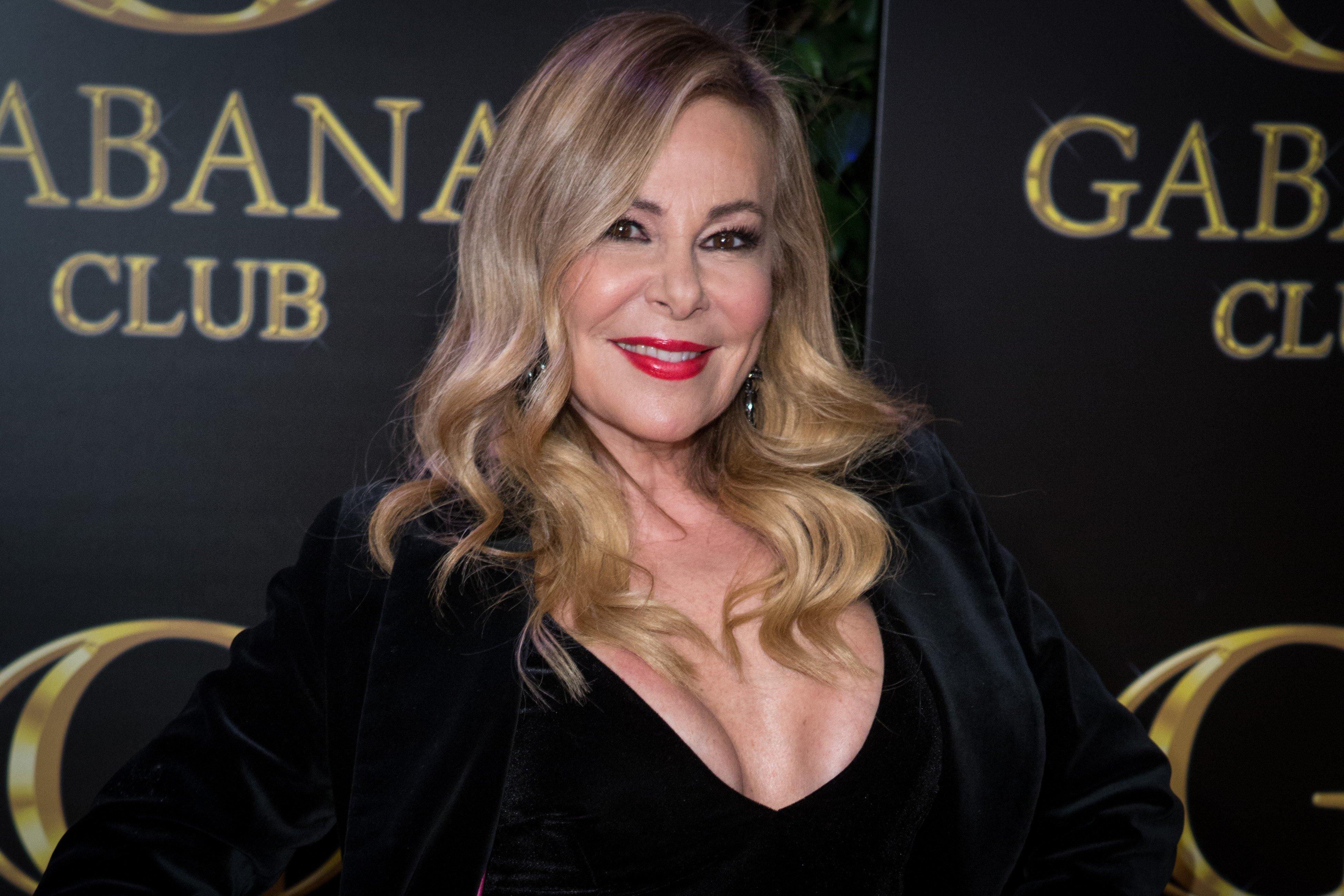 Ana Obregón asiste al cumpleaños 45 de Julio Iglesias Jr. en el Club Gabana en febrero de 2018, en Madrid, España. | Fuente: Getty Images
