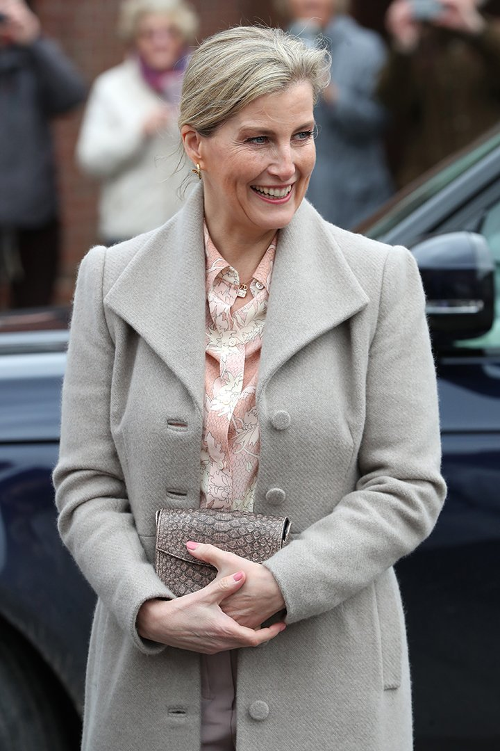 Sophie, Countess of Wessex visiting a community center in Mersea Island, UK in March 2020. I Image: Getty Images.