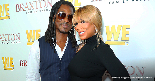 Tamar Braxton Stuns in Black Dress as She Makes 1st Public Appearance with Boyfriend on Red Carpet