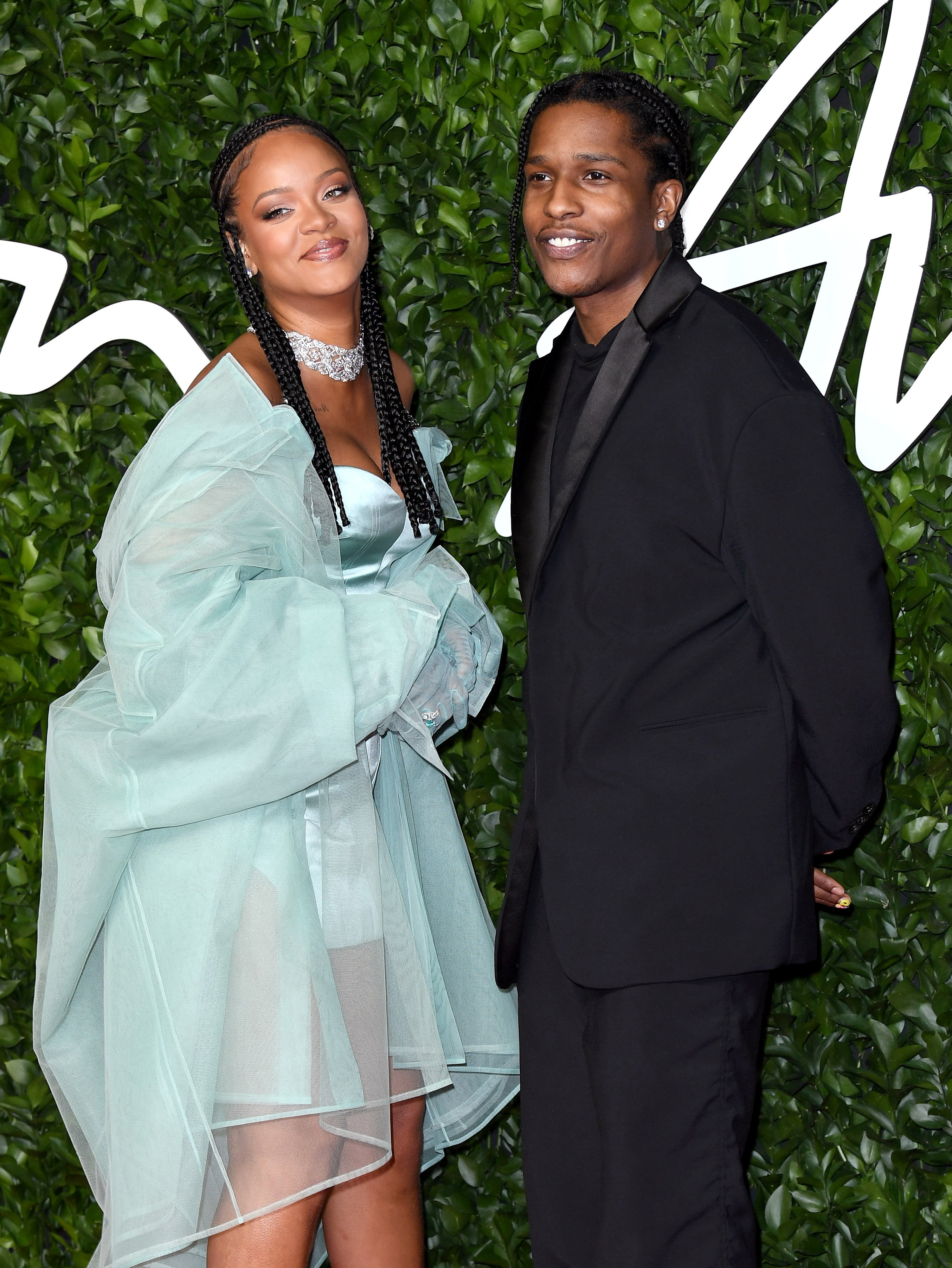 Rihanna and A$AP Rocky pose at The Fashion Awards 2019 at the Royal Albert Hall on December 02, 2019 in London, England. | Source: Getty Images