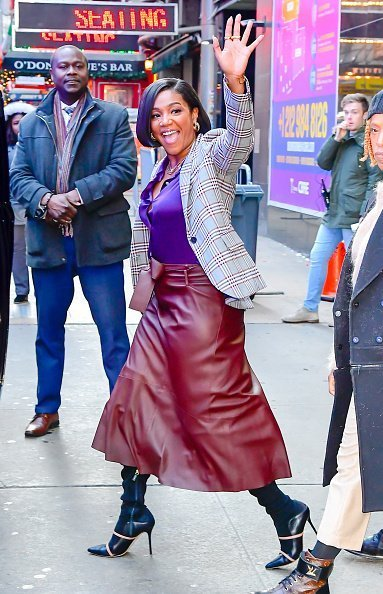 Tiffany Haddish is seen outside Good Morning America on January 8, 2020 in New York City.|Photo:Getty Images