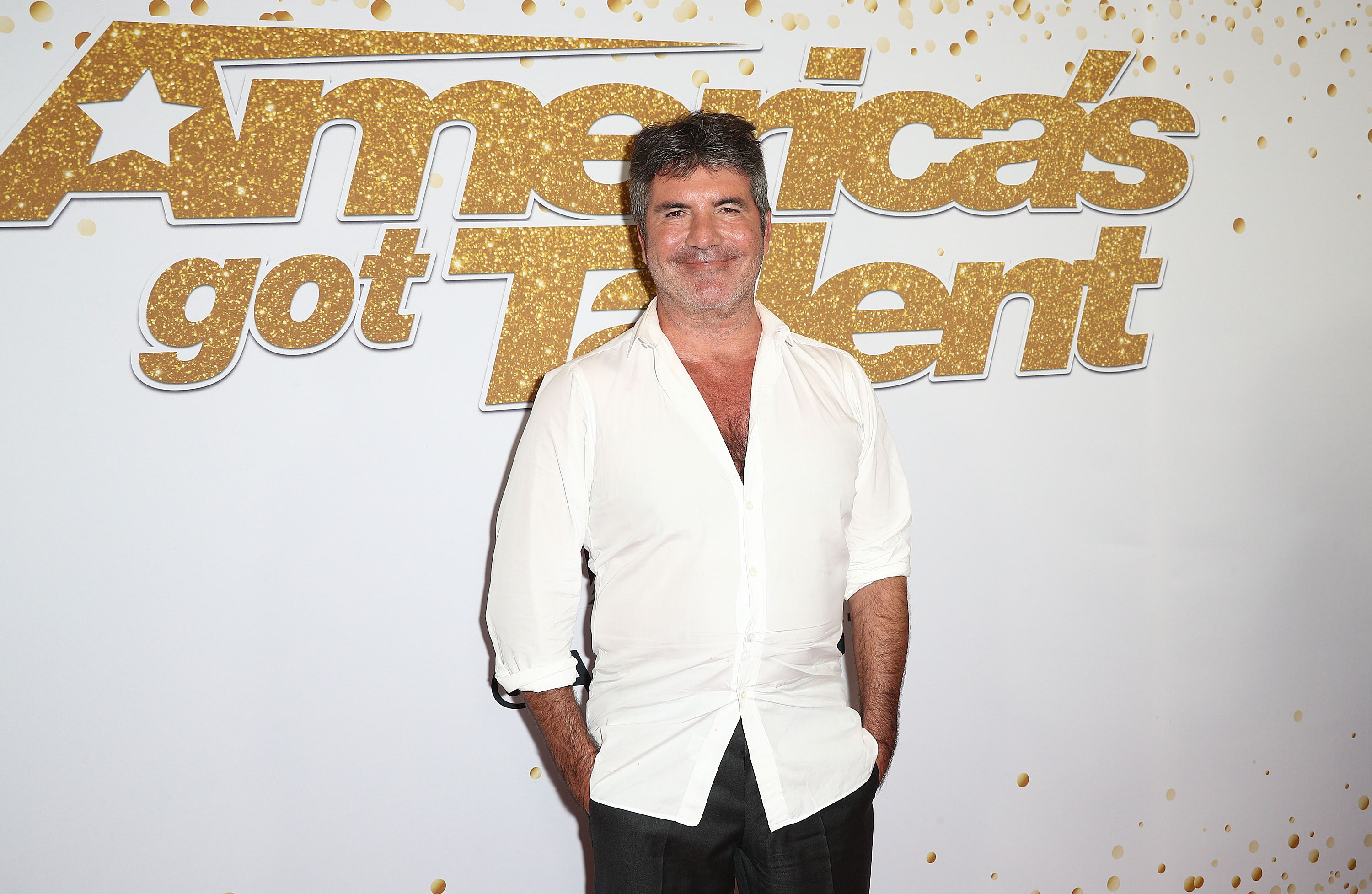 """Simon Cowell at """"America's Got Talent"""" Season 13 Finale Live Show Red Carpet at the Dolby Theatre on September 19, 2018 