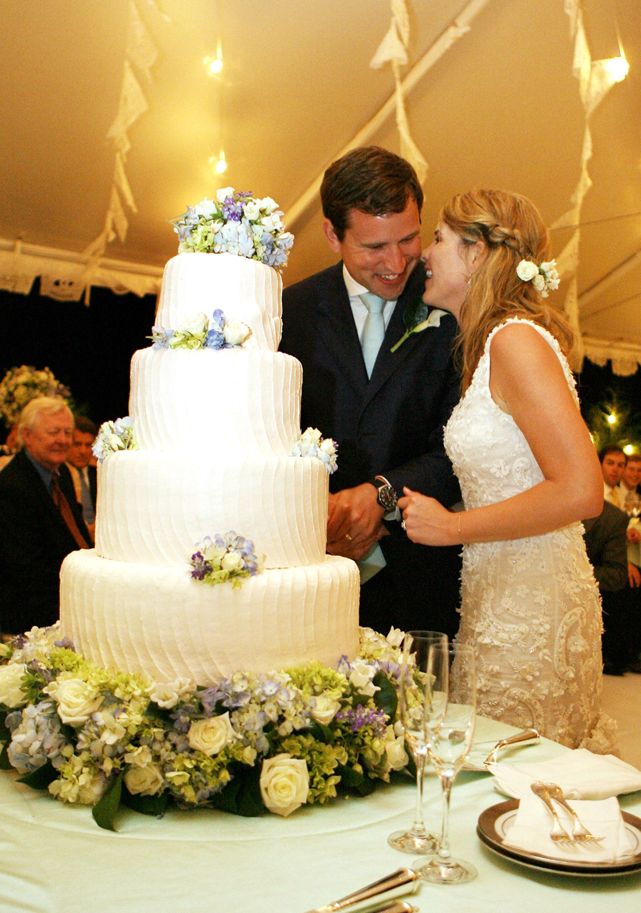 Jenna Bush and Henry Hager at their wedding, March 2008, Texas| Photo: Getty Images