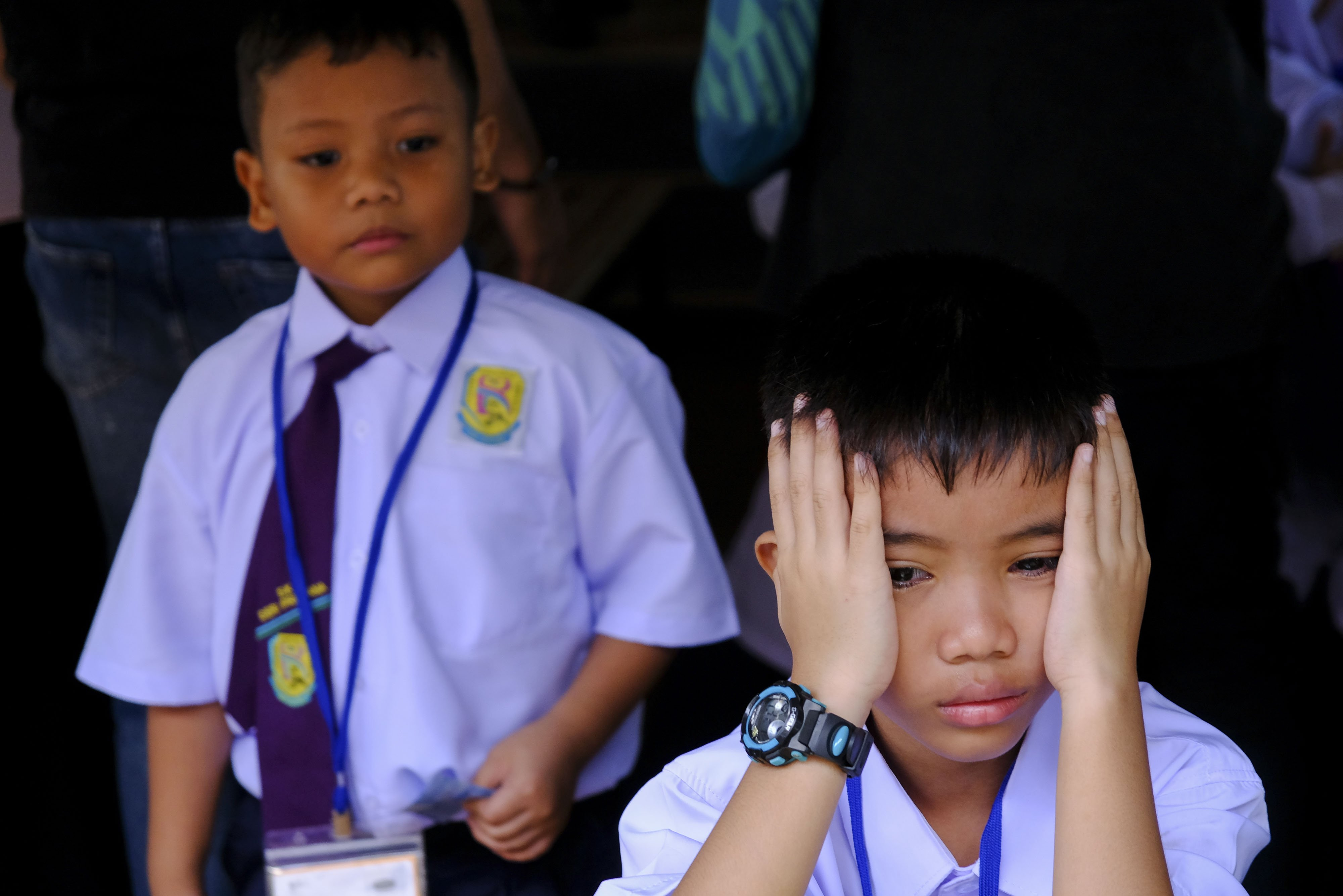 A year one pupil seen on the first day of school at Sk Seri Pristana. Malaysia school student have start their first day of school on 2th January 2020|Photo: Getty Images