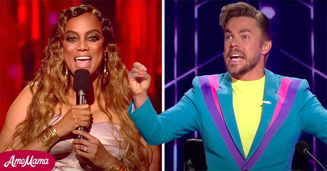 """A picture of Tyra Banks and Derek Hough on """"Dancing with The Stars"""" 