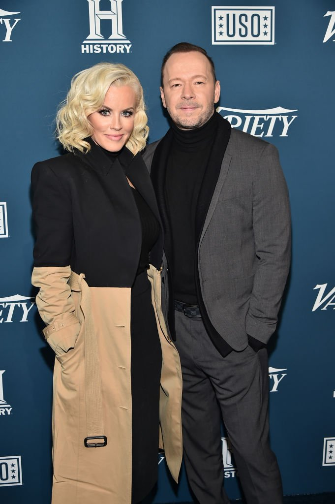 Jenny McCarthy and Donnie Wahlberg arrive on the red carpet atVariety's 3rd Annual Salute To Serviceon November 06, 2019,New York City | Source:Theo Wargo/Getty Images