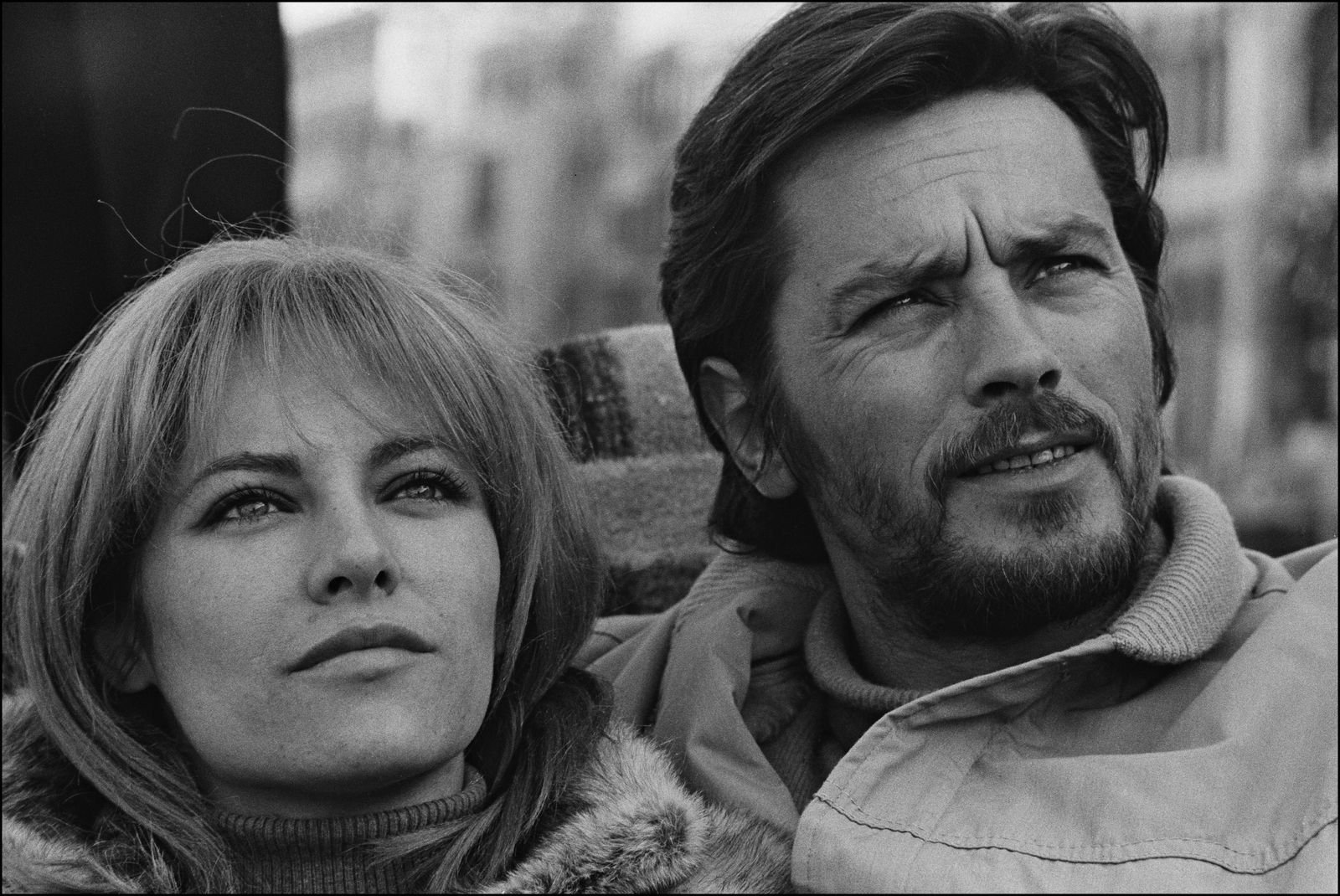 Nathalie et Alain Delon | Photo : Getty Images