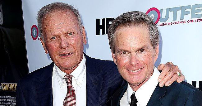 """Tab Hunter and Allan Glaser at the screening of """"Tab Hunter Confidential"""" at the 2015 Outfest's LGBT Los Angeles Film Festival on July 11, 2015 in West Hollywood, California.   Photo: Getty Images"""