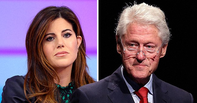 Portraits of Monica Lewinsky and former President Bill Clinton   Photo: Getty Images