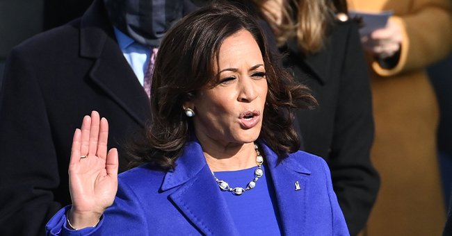 Vice President Kamala Harris Sends Powerful Message With Royal Purple Inauguration Day Outfit