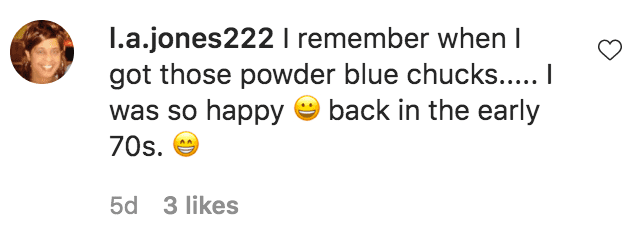 A fan commented on Kaela Tucker posing in a blue dress while standing in a kitchen | Source: Instagram.com/kpt_