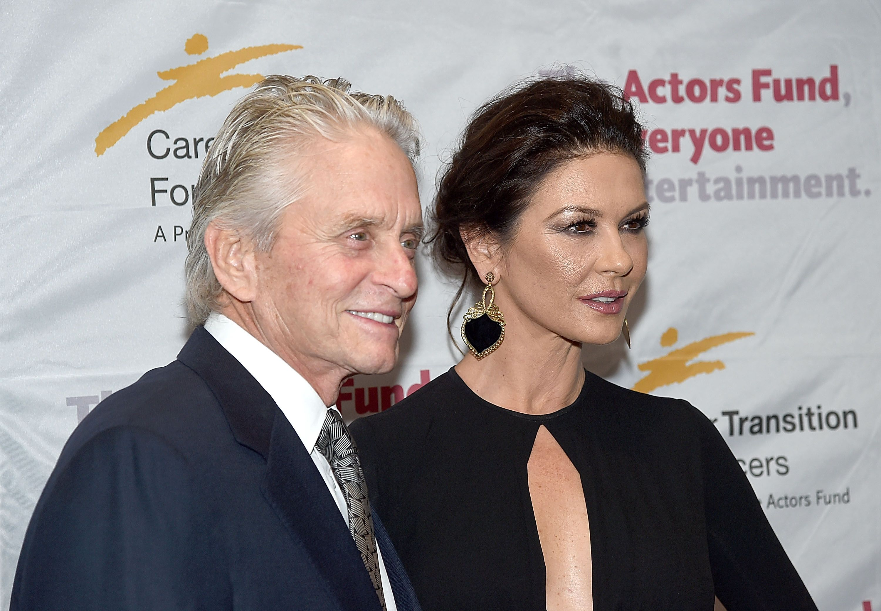Michael Douglas and Catherine Zeta-Jones at The Actor's Fund Career Transition For Dancers 2017 Jubilee Gala at Marriott Marquis Hotel on November 1, 2017 | Photo: Getty Images