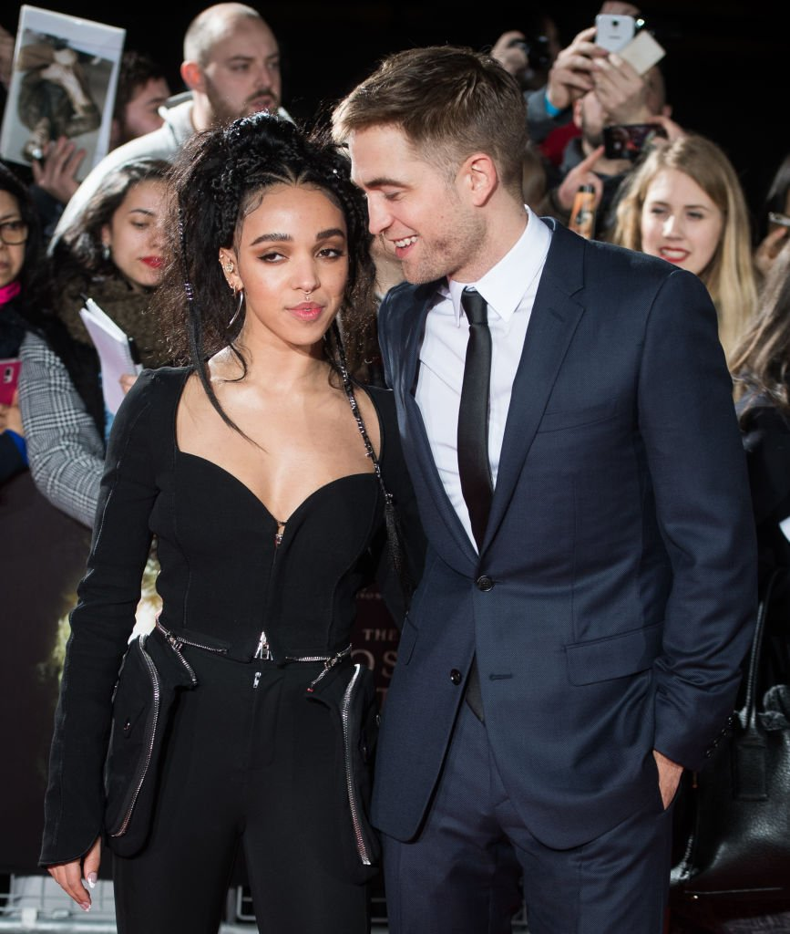 """FKA Twigs and Robert Pattinson arrive at """"The Lost City of Z"""" UK premiere on February 16, 2017 