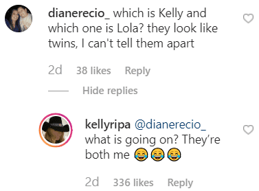 Comment from Instagram/ Kelly Ripa