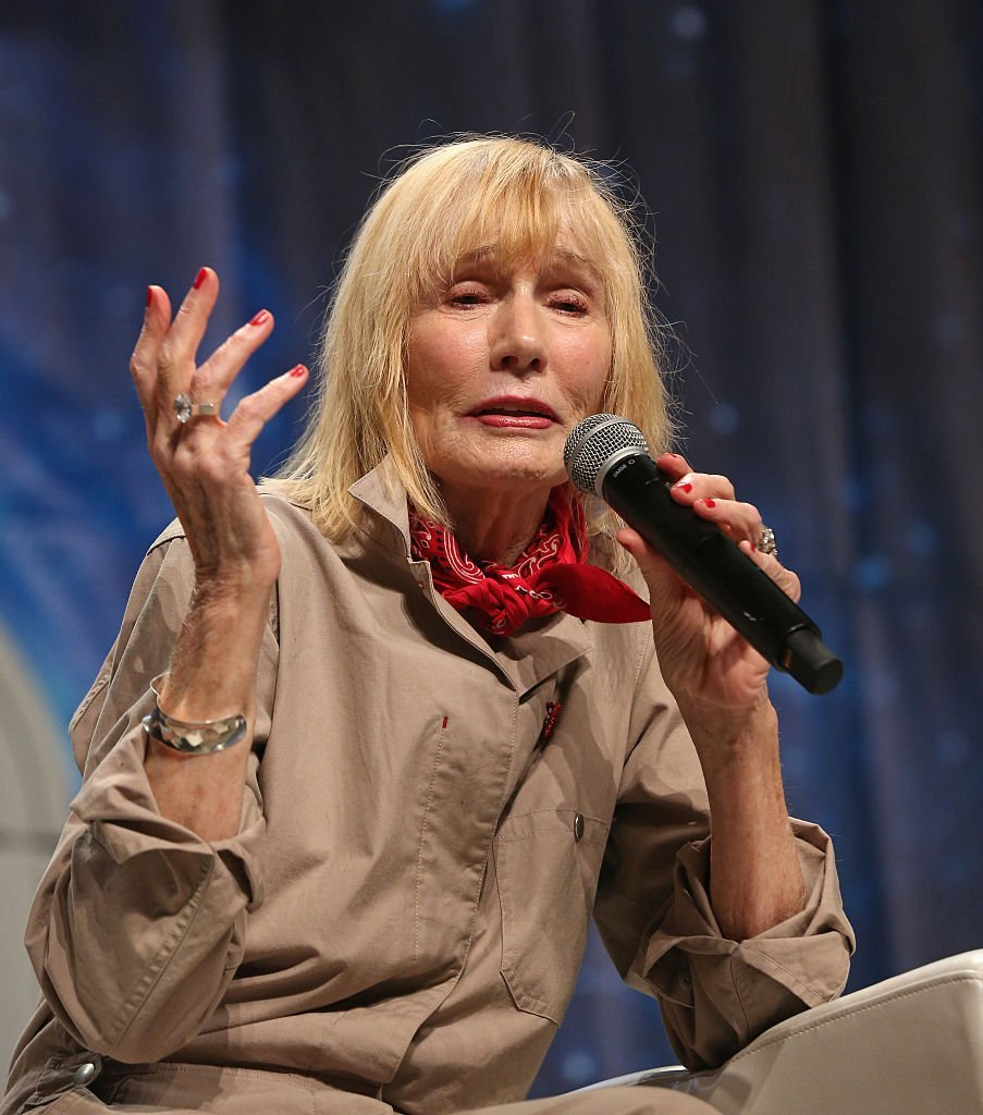 "Sally Kellerman speaks during the ""Where it all Began"" panel at the 15th annual official Star Trek convention at the Rio Hotel & Casino 