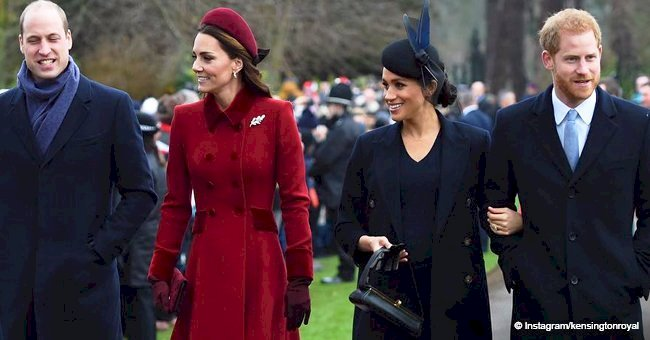 Meghan Markle gets slammed for wearing black at Christmas Day service with Harry, William & Kate