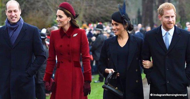 Meghan Markle se fait reprocher pour avoir porté du noir lors de la messe de Noël avec Harry, William et Kate
