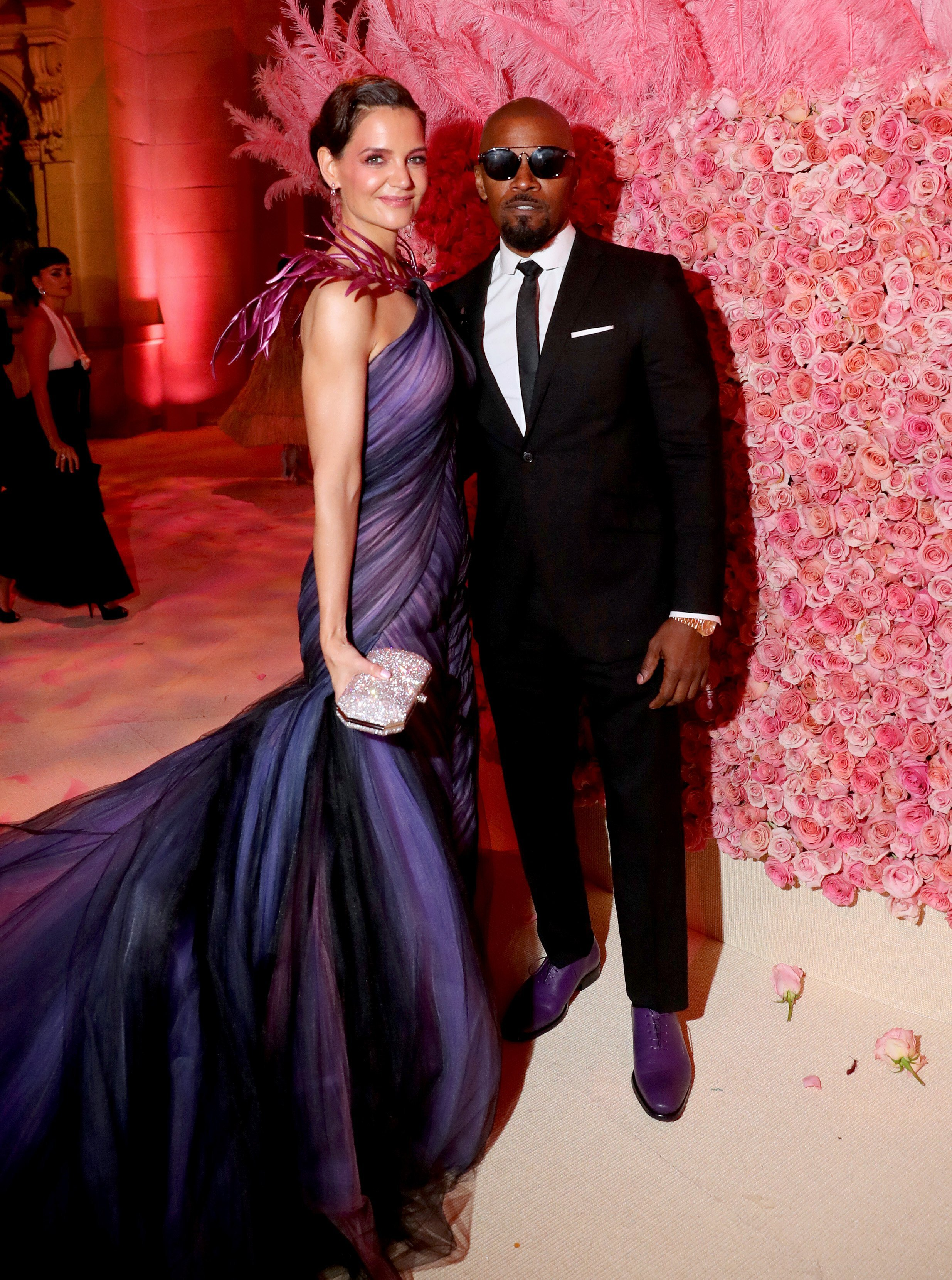 Katie Holmes and Jamie Foxx at the Met Gala. | Source: Getty Images