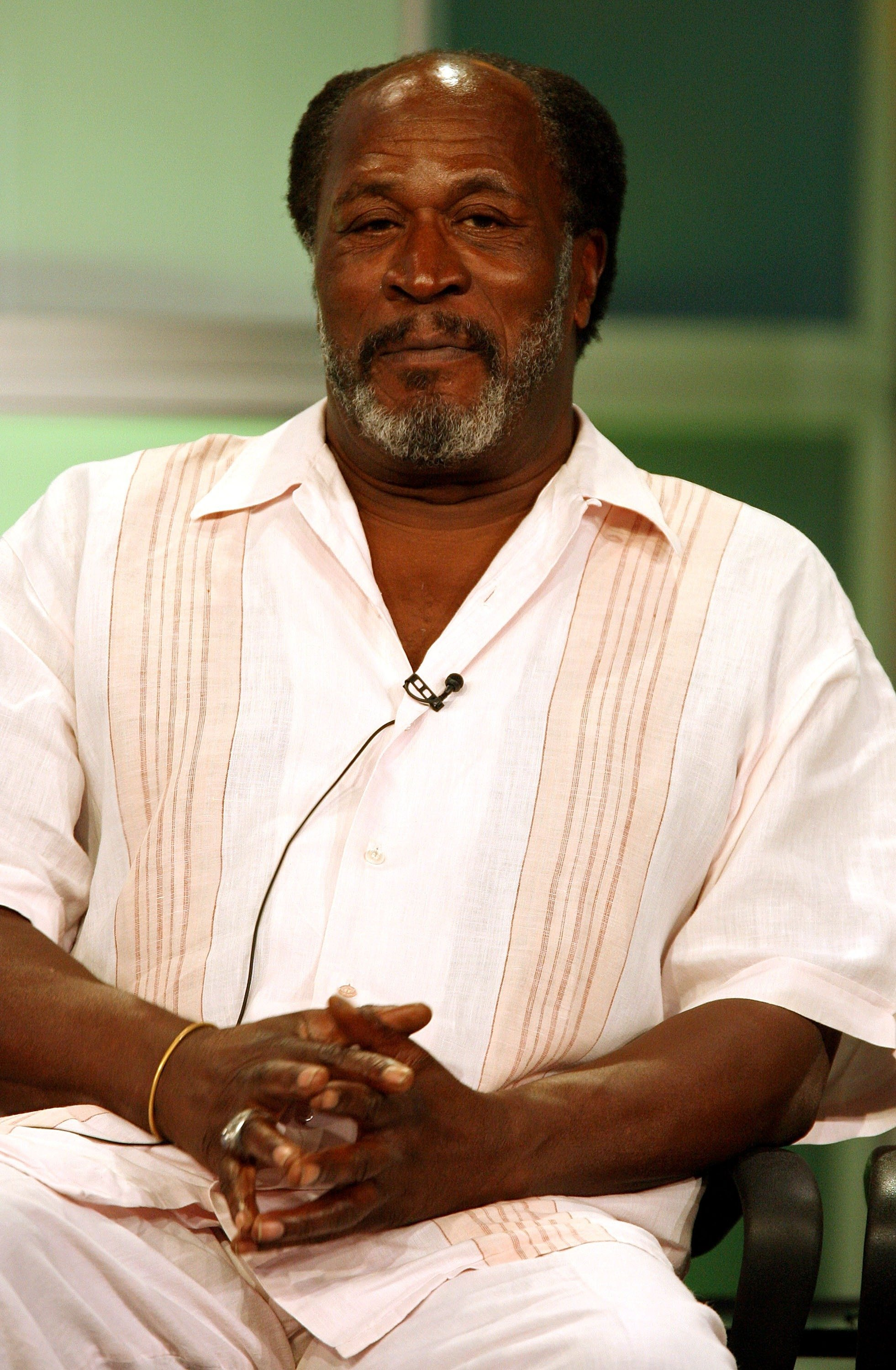 """John Amos of """"Men In Trees"""" speaks during the 2007 Summer Television Critics Association Press Tour for ABC held at the Beverly Hilton hotel on July 26, 2007 