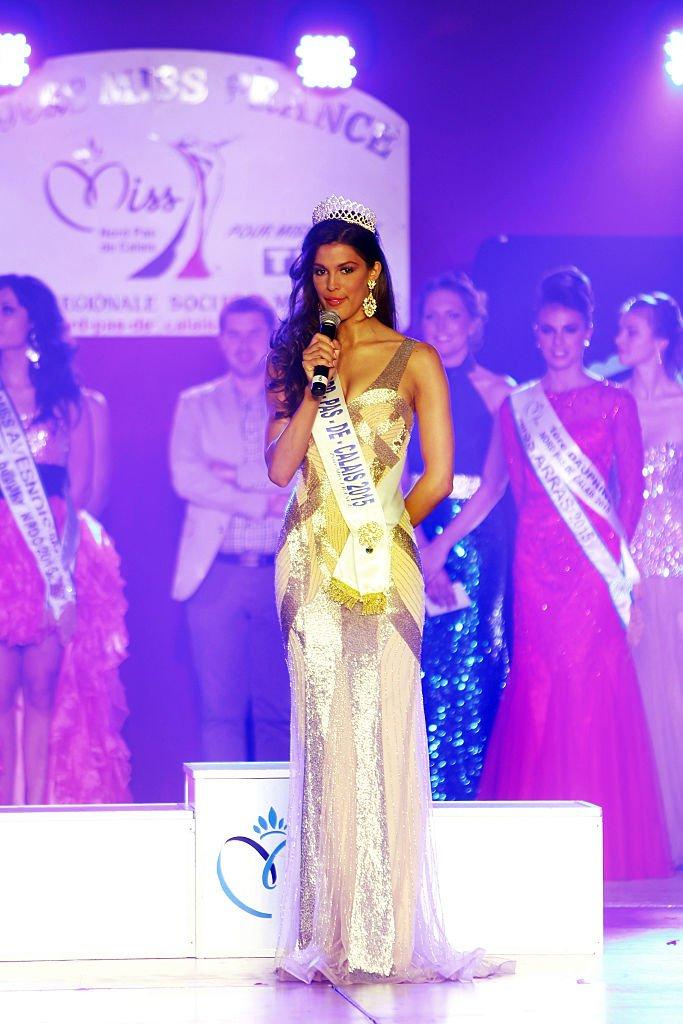 Iris Mittenaere au concours Miss France 2016. l Source : Getty Images