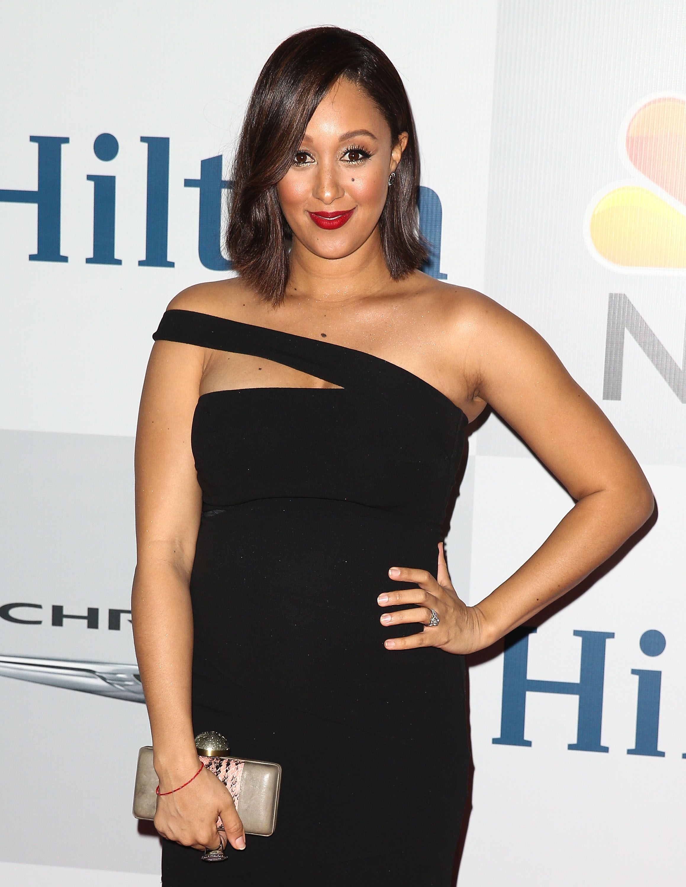 Tamera Mowry-Housley at NBCUniversal's 72nd Annual Golden Globe after-party at The Beverly Hilton Hotel on January 11, 2015 in Beverly Hills, California | Photo: Getty Images