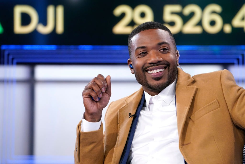 """Rapper Ray-J during his February 2020 TV guesting in the show """"Making Money"""" with Charles Payne in New York City. 