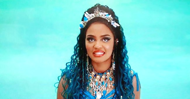 China McClain of 'ANT Farm' Shares Hilarious Photo Wearing Blue Dress & Statement Jewelry