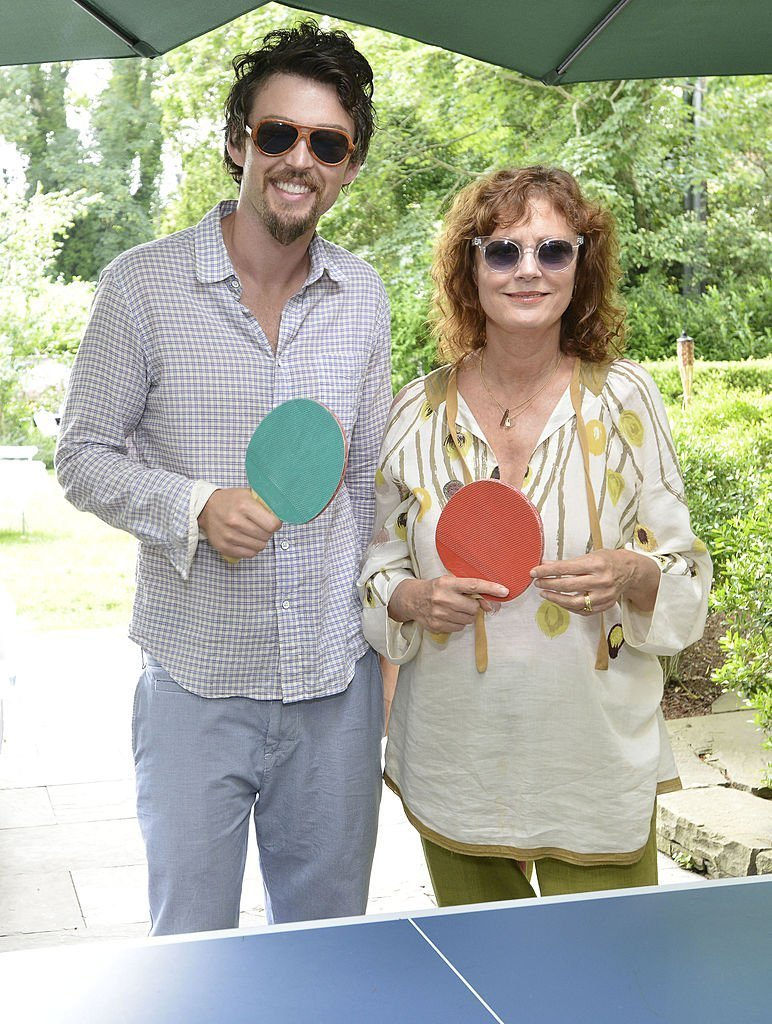 Jonathan Bricklin and Susan Sarandon attend the Susan Sarandon Kicks Off SPiN New York's East Hampton Pop-Up At c/o The Maidstone Hotel | Getty Images