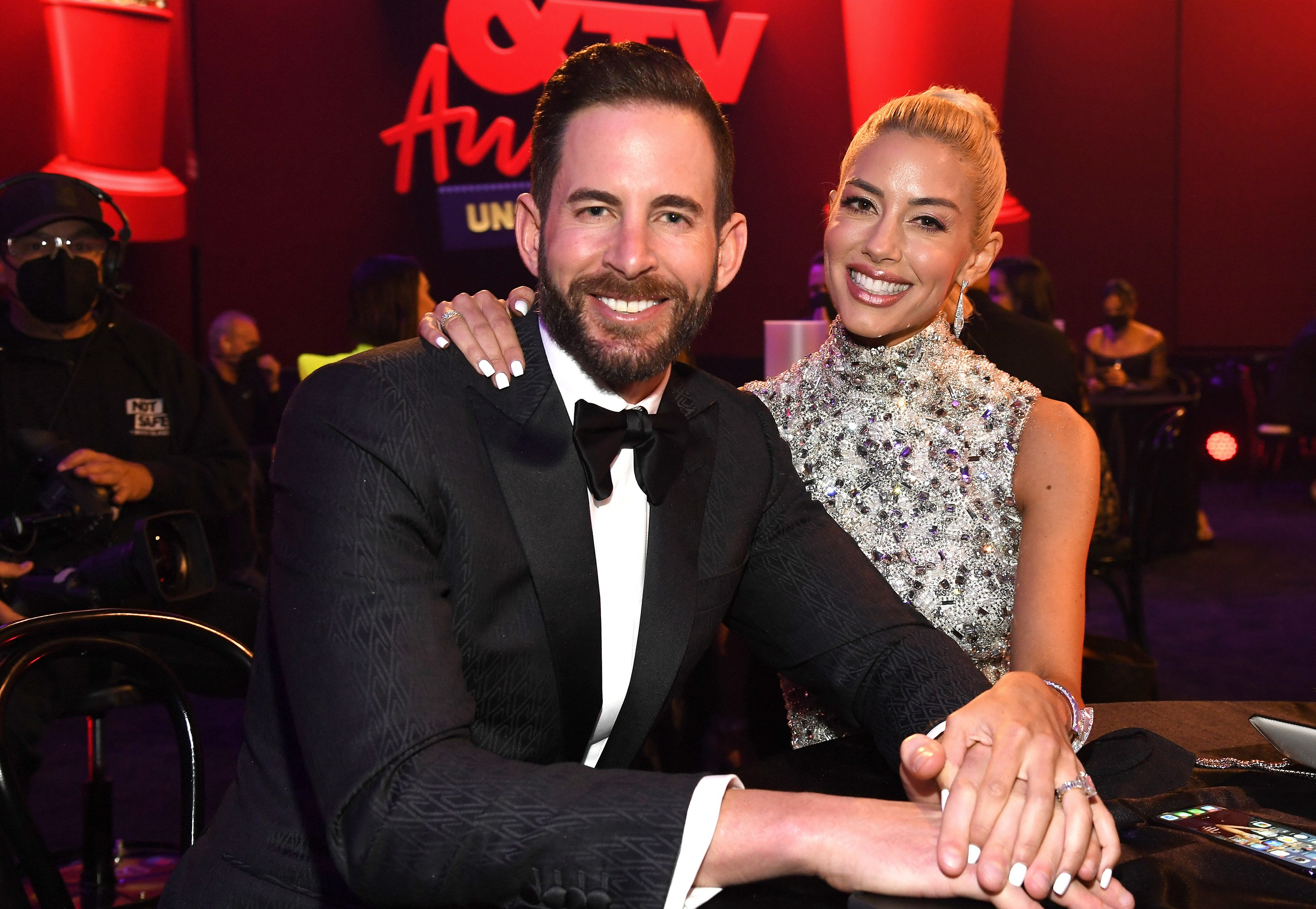 Tarek El Moussa and Heather Rae Young attend the 2021 MTV Movie & TV Awards: Unscripted in Los Angeles, 2021 | Photo: Getty Images