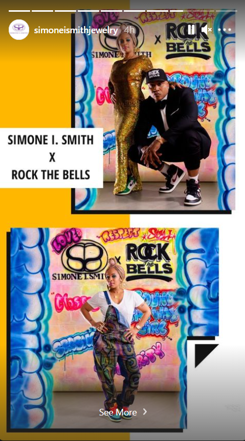 A picture of LL Cool J and his wife, Simone Smith during a photoshoot for Smith X Rock The Bells' newest collection | Photo: Instagram.com/simoneismithjewelry