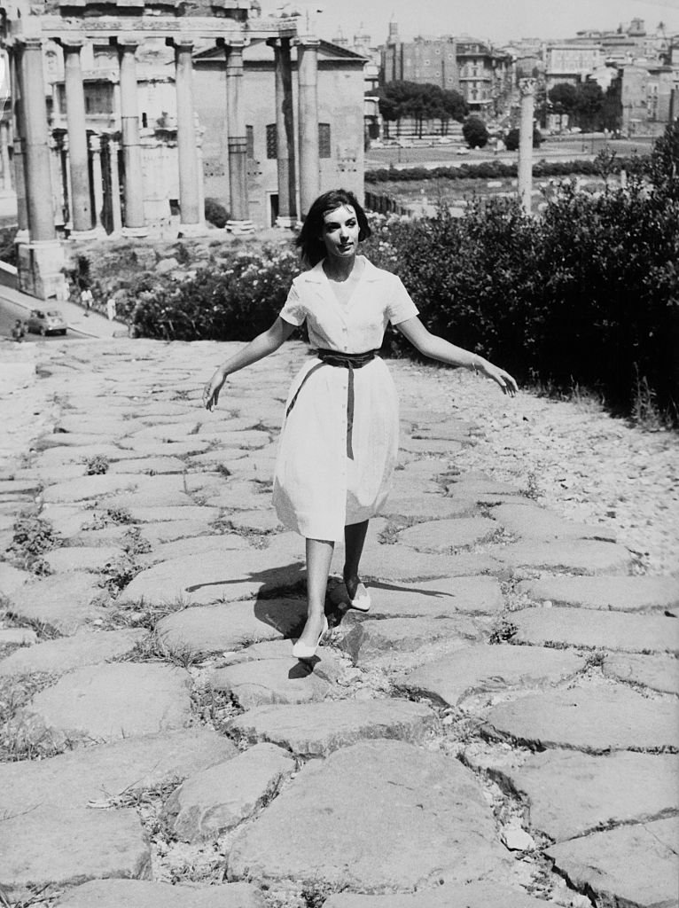 Marie Laforêt à Rome en 1961. l Source : Getty Images