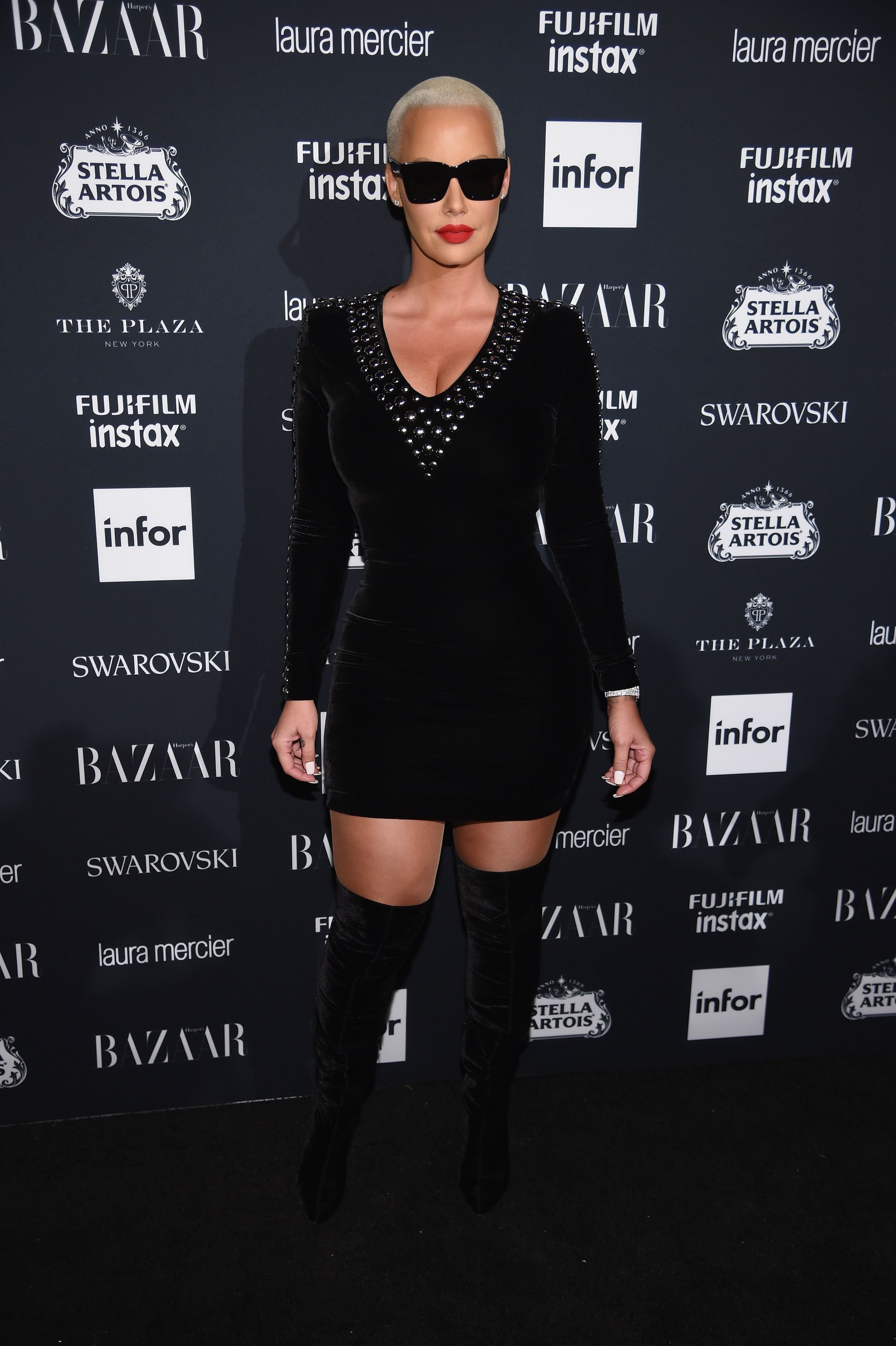 """Rose attends Harper's BAZAAR Celebration of """"ICONS By Carine Roitfeld"""" at The Plaza Hotel presented by Infor, Laura Mercier, Stella Artois, FUJIFILM and SWAROVSKI on September 8, 2017 in New York City. 