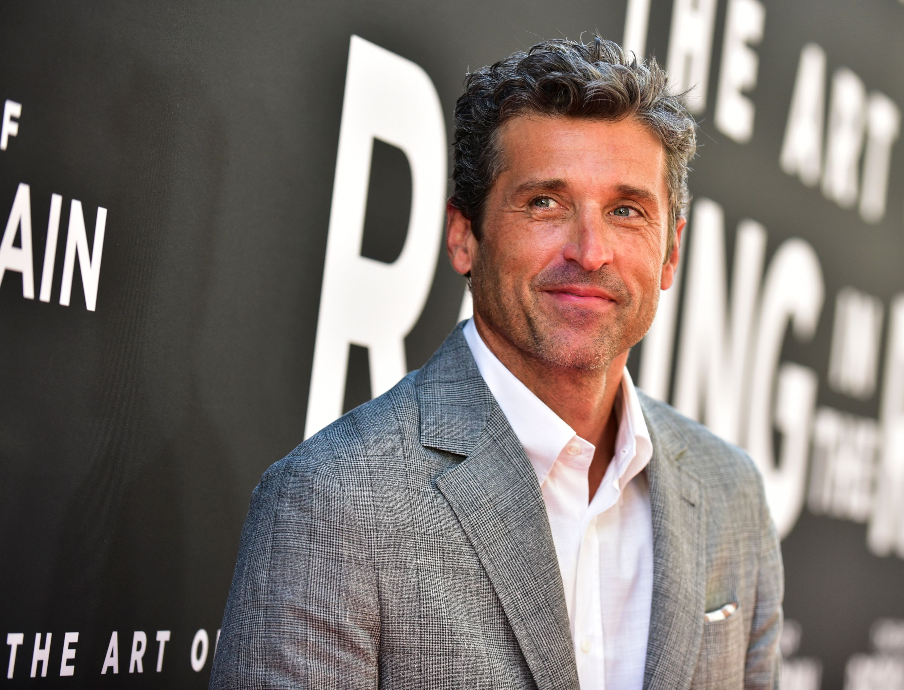 """Patrick Dempsey at the premiere of 20th Century Fox's """"The Art of Racing in the Rain"""" at El Capitan Theatre on August 01, 2019 