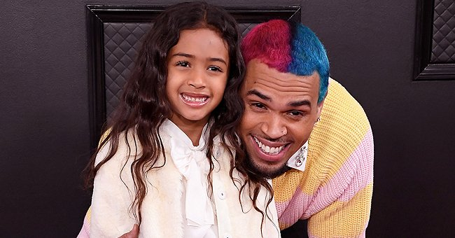 Check Out Chris Brown's Cute Daughter Royalty Posing like a Model in a Cool Floral Print Outfit
