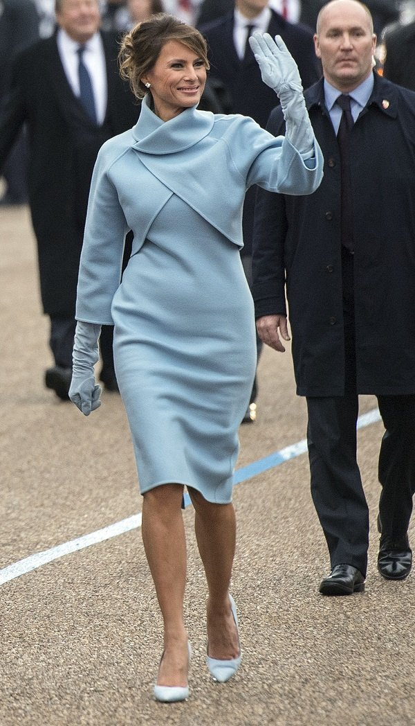 Melania Trump in the Inaugural Parade on January 20, 2017 in Washington, DC | Source: Getty Images
