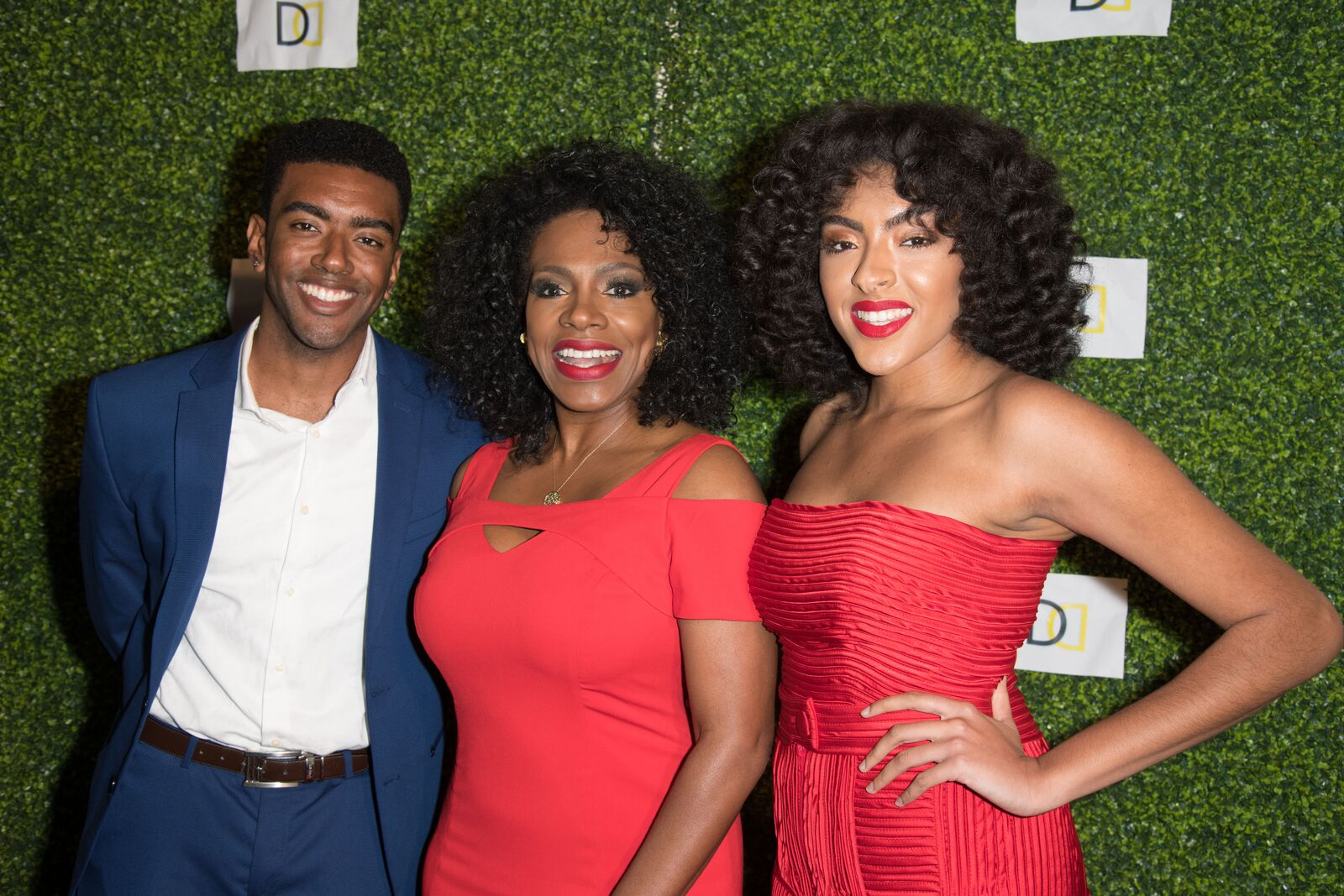 """Etienne Maurice, Sheryl Lee Ralph and Ivy-Victoria Maurice attend Koshie Mills Host """"The Diaspora Dialogues"""" International Women Of Power Luncheon at Marriott Hotel Marina Del Rey on March 2, 2018 