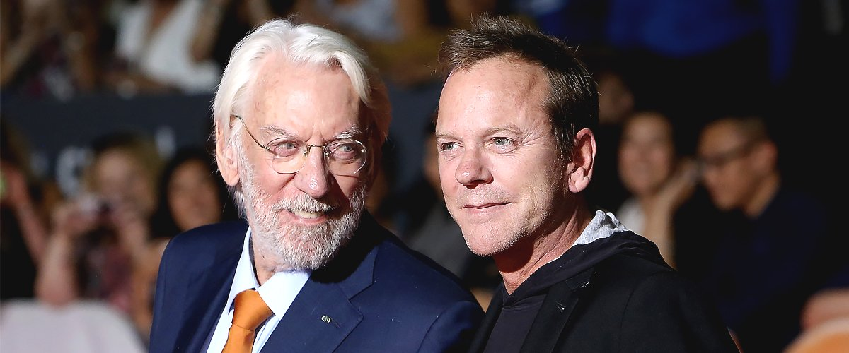 """Donald Sutherland (L) and Kiefer Sutherland arrive at the """"Forsaken"""" premiere during 2015 Toronto International Film Festival held at Roy Thomson Hall on September 16, 2015 