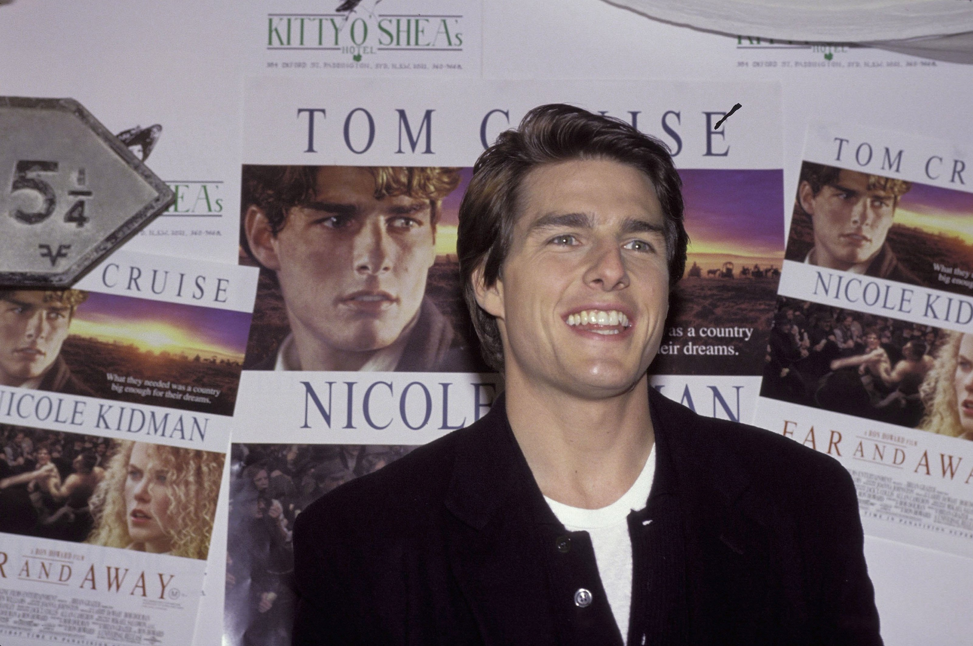 """Tom Cruise during his media call for the 1992 movie """"Far And Away"""" in Sydney, Australia. 