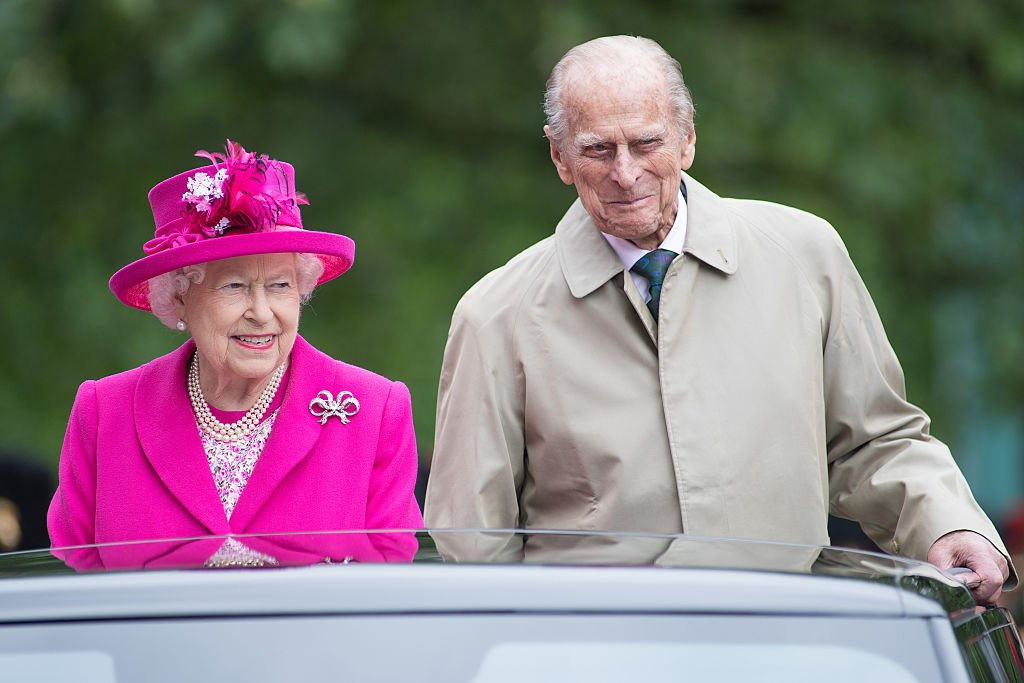 """Queen Elizabeth II and Prince Philip during """"The Patron's Lunch"""" celebrations for The Queen's 90th birthday on June 12, 2016 in London, England 