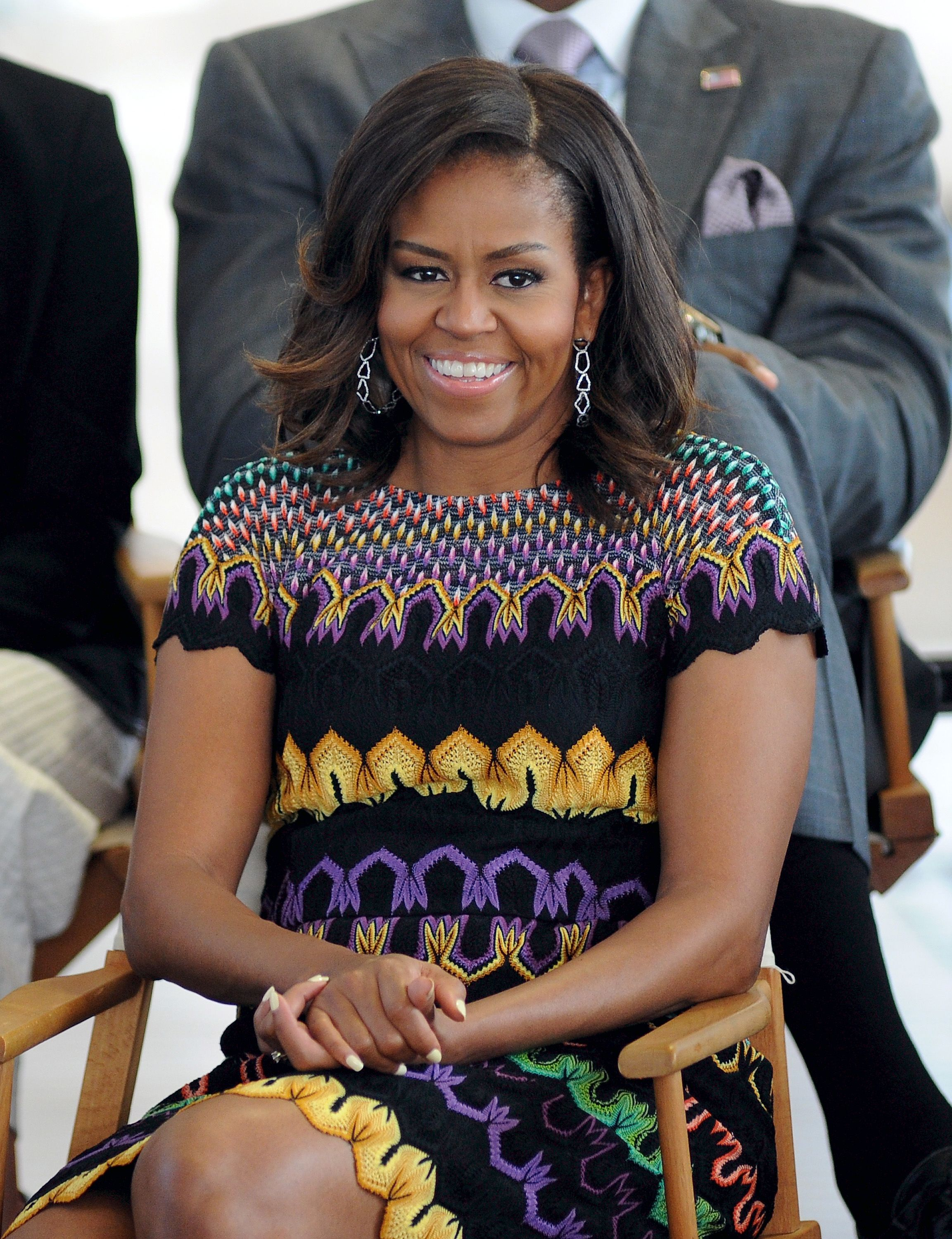 Michelle Obama during question time with 60 American college students at the United States Pavilion at the Milan Expo 2015 on June 18, 2015 in Milan, Italy | Photo: Getty Images