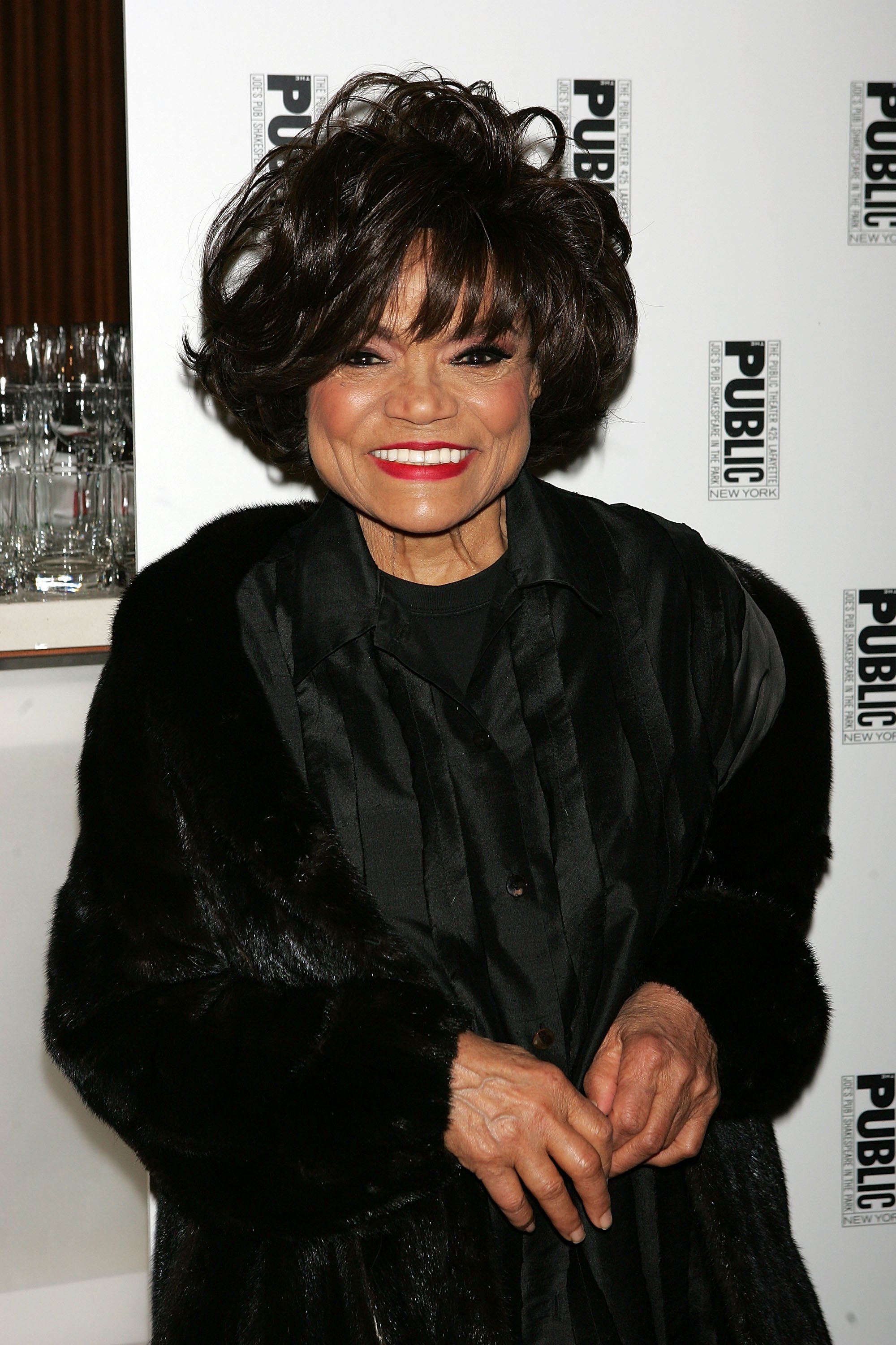 """Eartha Kitt at the after-party for """"The Public Sings: A 50th Anniversary Celebration"""" at the Time Warner Center January 30, 2006, in New York City   Photo: Getty Images"""