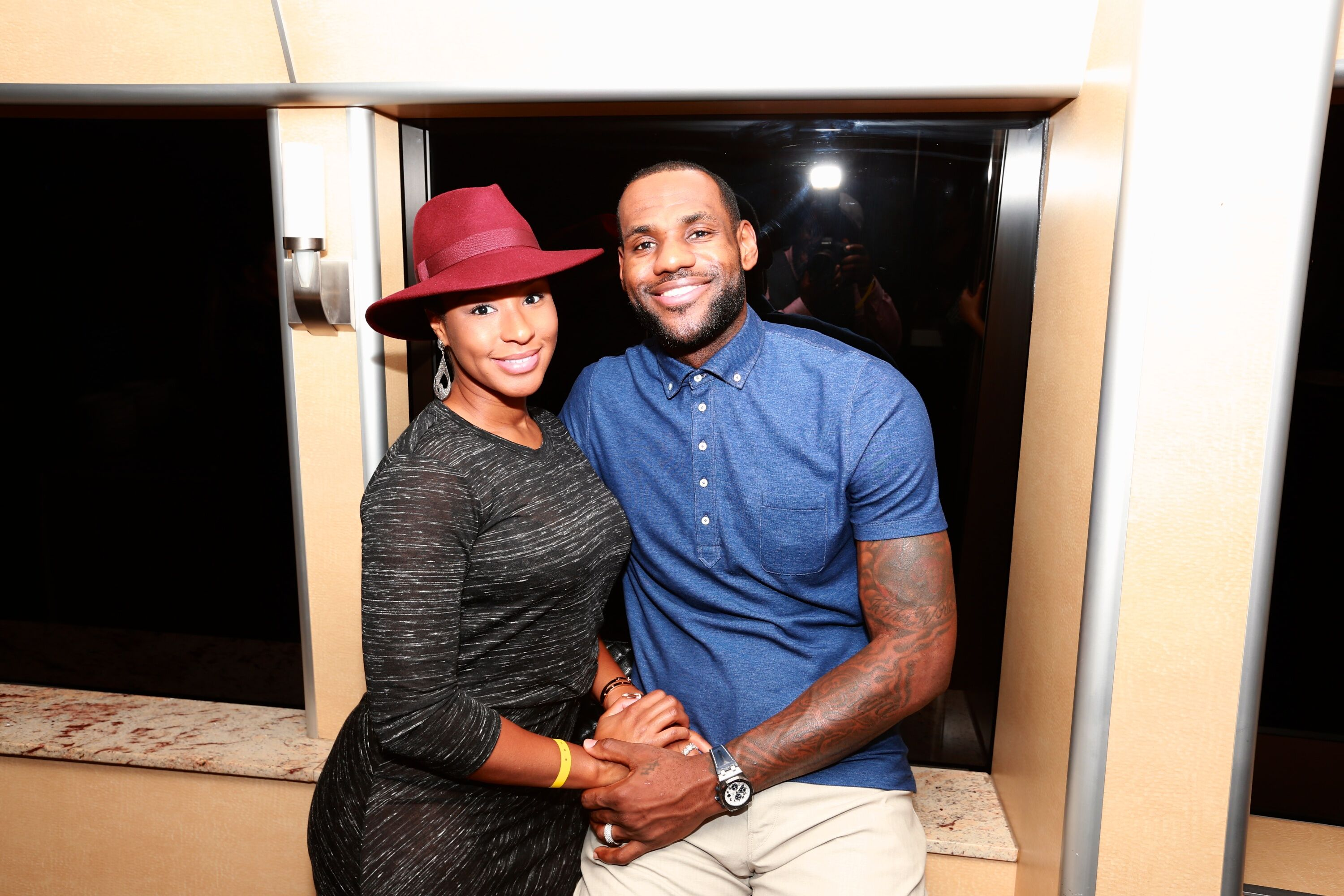 "Savannah James and LeBron James attends Dwyane Wade's ""Rock The Boat"" 32nd Birthday Party on January 11, 2014 in Miami Beach, Florida. 