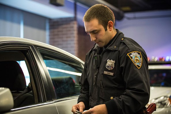 Police Officer during a mock traffic stop | Photo: Getty Images